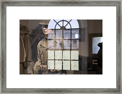 Fort Macon Through Glass Framed Print by Betsy Knapp