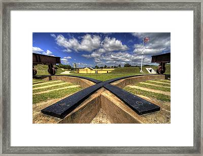 Fort Moultrie Cannon Tracks Framed Print by Dustin K Ryan
