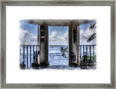Fort Myers Florida Framed Print by Edward Fielding