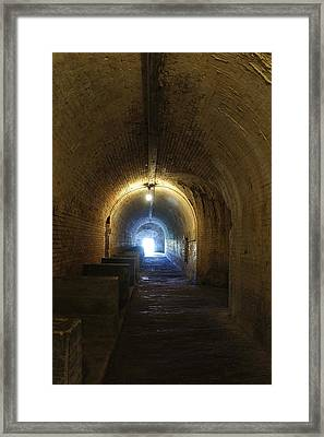 Fort Pickens Hall Framed Print by Laurie Perry