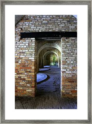 Fort Pickens Interior Framed Print by Laurie Perry