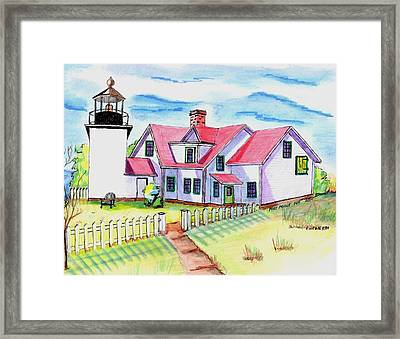 Fort Point Lighthouse Maine Framed Print by Paul Meinerth