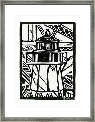 Fort Point Lighthouse Framed Print by Tom Taneyhill