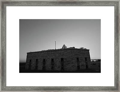 Fort Taber Nb II Bw Framed Print by David Gordon