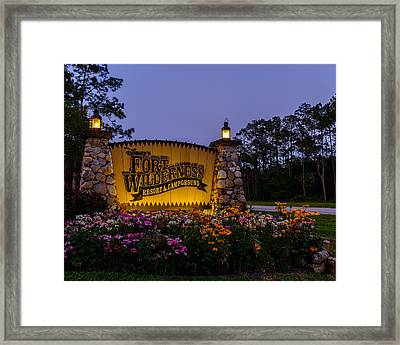 Fort Wilderness Resort And Campground 2 Framed Print by Chris Bordeleau