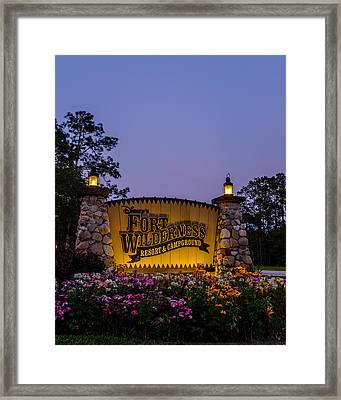 Fort Wilderness Resort And Campground Framed Print by Chris Bordeleau