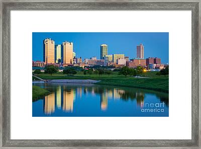 Fort Worth Mirror Framed Print by Inge Johnsson