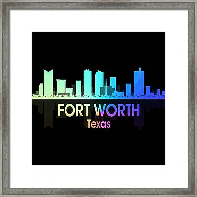 Fort Worth Tx 5 Squared Framed Print by Angelina Vick