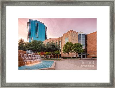 Fort Worth Water Gardens - Convention Center - Omni Hotel - Downtown Fort Worth - North Texas Framed Print by Silvio Ligutti