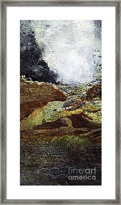 Eruption Framed Print by Barb Pearson
