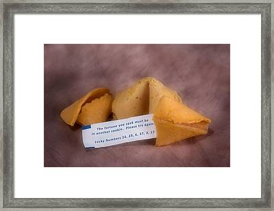 Fortune Cookie Fail Framed Print by Tom Mc Nemar