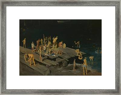 Forty Two Kids Framed Print by George Wesley Bellows