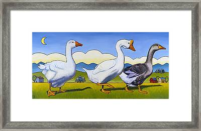 Forward March Framed Print by Stacey Neumiller