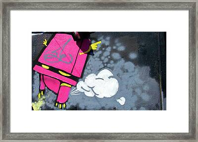 Found Graffiti 12 Robot Framed Print by Jera Sky