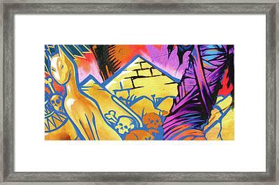 Found Graffiti 28 Cat Framed Print by Jera Sky