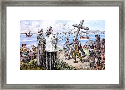 Founding Of Mission San Diego De Alcala Framed Print by Christine Till