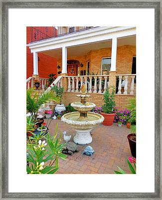 Fountain In The Garden 2 Framed Print by Lanjee Chee