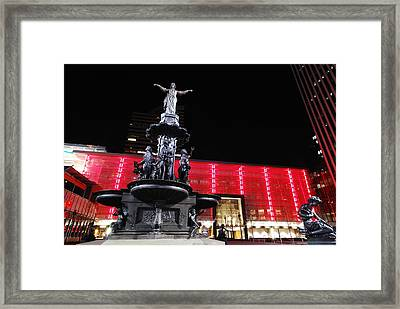 Fountain Square Framed Print by Russell Todd