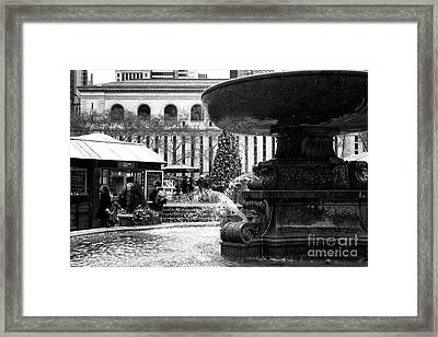 Fountain Terrace Framed Print by John Rizzuto