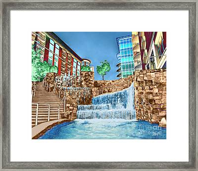 Fountains Framed Print by Rachelle Petersen