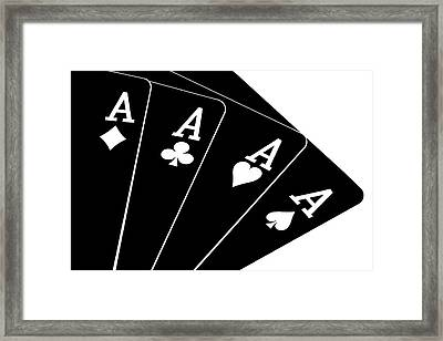 Four Aces II Framed Print by Tom Mc Nemar