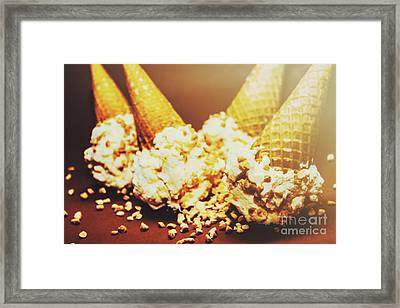 Four Artistic Ice-cream Cones Framed Print by Jorgo Photography - Wall Art Gallery