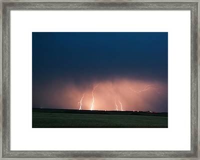 Four Down Strikes Framed Print by Jeff Swan