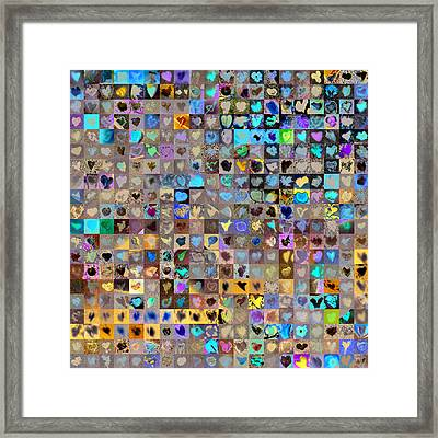 Four Hundred And One Hearts Framed Print by Boy Sees Hearts