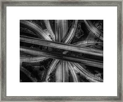 Four Level Interchange Framed Print by Art K
