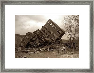 Four Old Friends...swoyersville Pa Framed Print by Arthur Miller