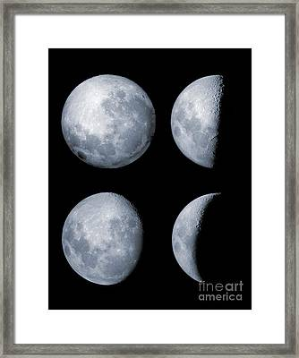 Four Phases Of The Moon Framed Print by Rolf Geissinger