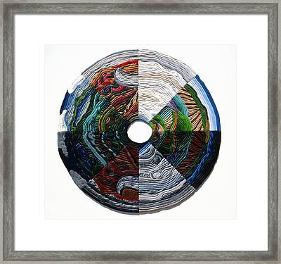 Four Seasons - Day And Night Framed Print by Arla Patch