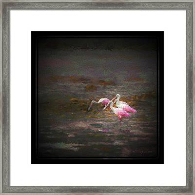 Four Spoons On The Marsh Framed Print by Marvin Spates