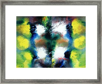 Four White Spots Framed Print by Sumit Mehndiratta