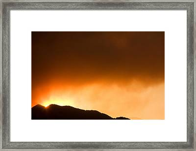 Fourmile Sunset The Night Of The Fire Boulder Canyon Framed Print by James BO  Insogna