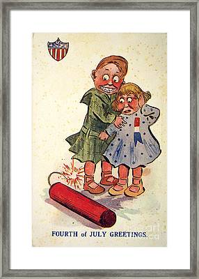 Fourth Of July Greeting Vintage American Poster Framed Print by R Muirhead Art