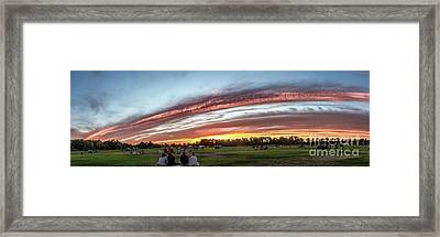 Fourth Of July Sunset At Gem Island Framed Print by Robert Bales