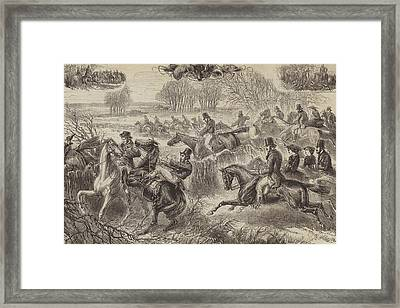 Fox Hunting, Full Cry Framed Print by JH Nicholson