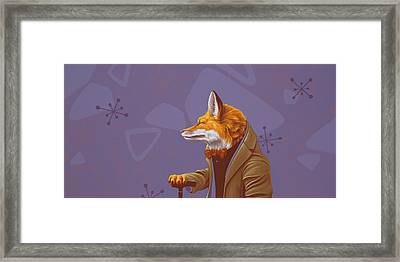 Fox Framed Print by Jasper Oostland