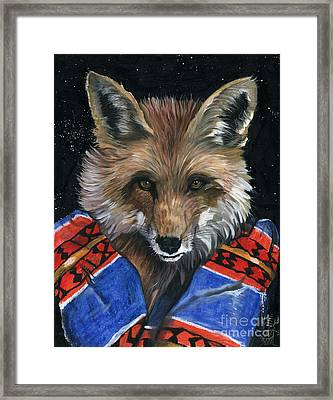 Fox Medicine Framed Print by J W Baker