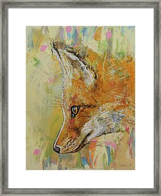 Fox Framed Print by Michael Creese