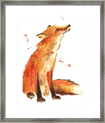 Fox Painting - Print From Original Framed Print by Alison Fennell