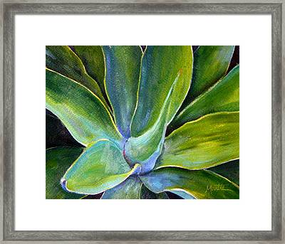 Fox Tail Agave 2 Framed Print by Athena  Mantle