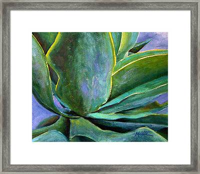 Fox Tail Agave 3 Framed Print by Athena  Mantle