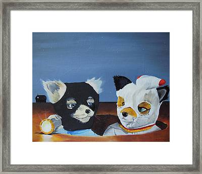 Foxes From The Movie 'fantastic Mr. Fox' Framed Print by Ben Jackson