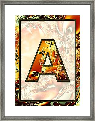 Fractal - Alphabet - A Is For Abstract Framed Print by Anastasiya Malakhova