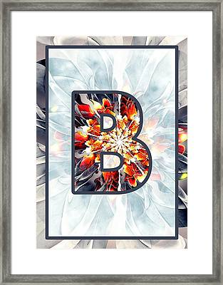 Fractal - Alphabet - B Is For Beauty Framed Print by Anastasiya Malakhova