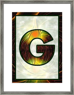 Fractal - Alphabet - G Is For Glow In The Dark Framed Print by Anastasiya Malakhova