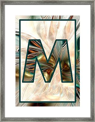 Fractal - Alphabet - M Is For Magic Framed Print by Anastasiya Malakhova