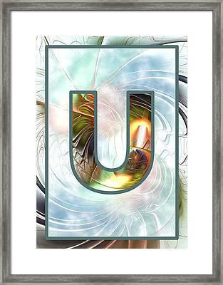 Fractal - Alphabet - U Is For Unity Framed Print by Anastasiya Malakhova